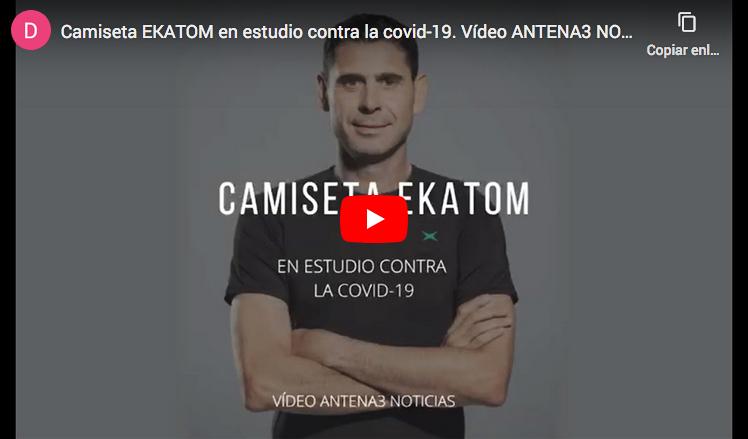 camiseta Ekatom contra los efectos de Covid19